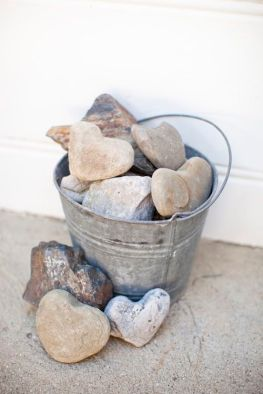 Rocks in bucket